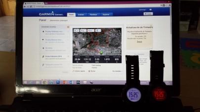 Interfaz principal de Garmin Connect