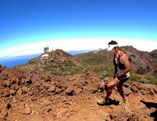 La Sportiva Bushido en Transvulcania al paso del Roque. Foto remitida Alvaro Rodriguez
