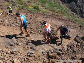 Luis Alberto Hernando y Kilian Jornet al paso del Roque Muchachos en Transvulcania 2014.