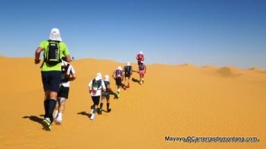 Ultra Trail 100Km del Sahara: Las dunas, terreno agotador.