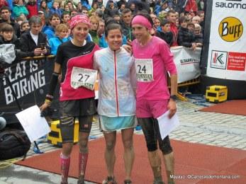 Zegama 2014 Mujeres: Stevie Kremer, Elisa Desco y Maite Maiora. Foto: Mayayo.