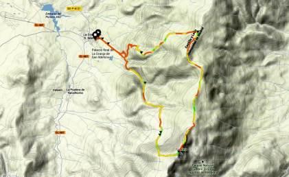 Entrenamiento trail running Mapa La Granja - Peñalara.