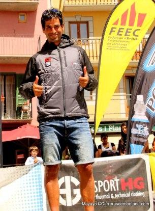 Gerard Morales en la meta de Volta Cerdanya como líder de Spain Ultra cup.