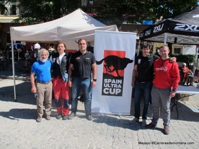 Equipo de la Spain Ultra Cup en Gran Trail Peñalara.