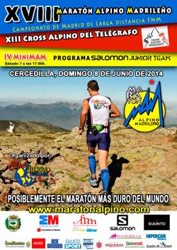 Maraton Alpino Madrileño 2014 cartel oficil
