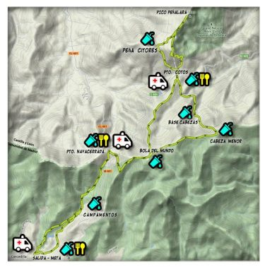 Maraton Alpino Madrileño 2014 mapa de carrera