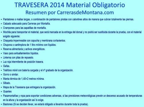 travesera picos europa 2014 Material Obligatorio por Carrerasdemontana.com