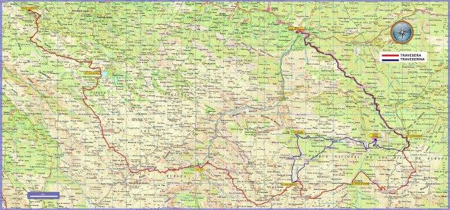 Travesera Picos Europa 2014 y Traveserina mapa de carrera