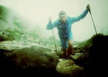 Manuel Merillas en Ice trail Tarentaise. Foto: Manuel Merillas