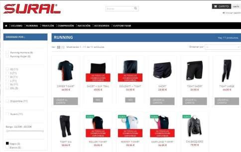 Tienda online Sural: Gama Running