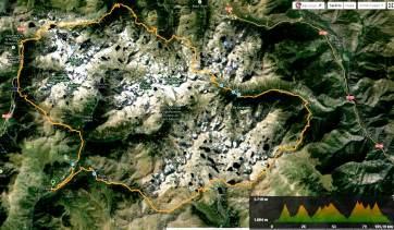 Buff Epic trail aigues tortes 2014 mapa carrera