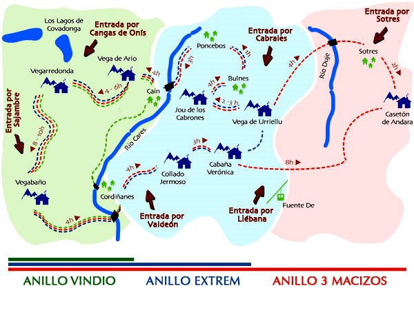 Anillo Picos Europa mapa