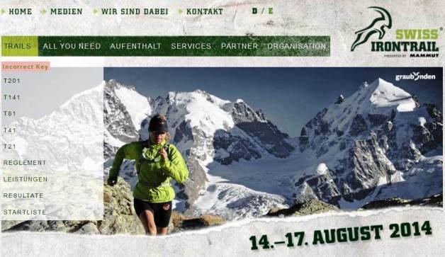 Swiss Iron Trail 2014: carreras T21, T41, T81, T141, T201