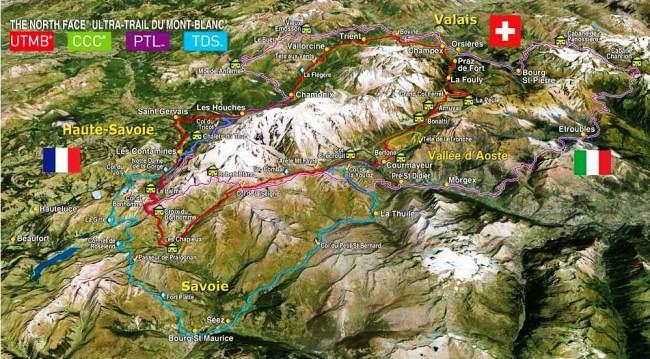 UTMB: Panoramica comparada de las carreras del Mont Blanc.