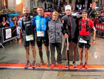 CCC 2014: Top5 en meta, con Pau Bartoló en el centro.