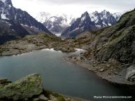 Lac Blanc en lo alto de Chamonix.