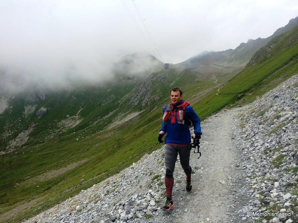 c42b2ceeb Zapatillas Adizero xt5 en el descenso del Weissfluhgipfel a Davos (D-1.300m  del