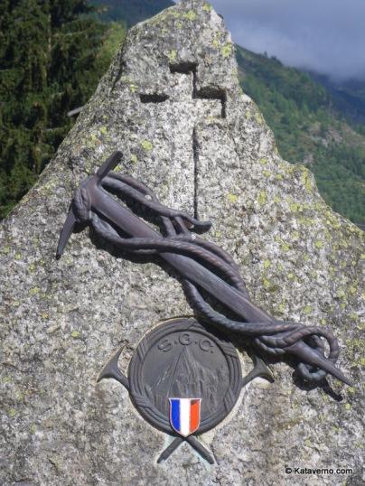 Cementerio de Guías de montaña en Argentiere.