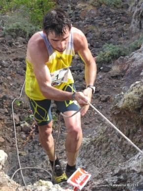 Ljuis Alberto Hernando en Haría Extreme 2013. Foto: Kataverno.