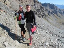 Con Maddi Arrazola en su descenso del Col Loson 3.300m