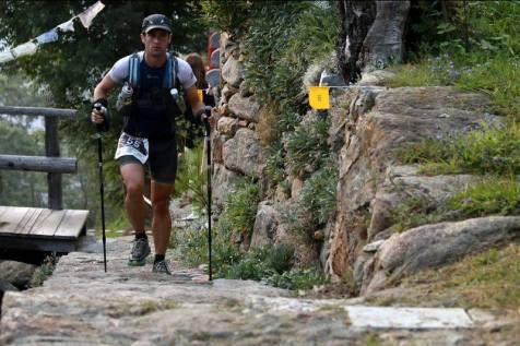 Egoitz Aragón en pleno Tor des Geants 2014. Foto: TDG