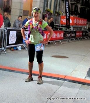 Teresa Nimes, campeona en los 119k del TDS14  y entrenadora Alfonso.