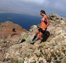 Fernanda Maciel disputando Haría Extreme 2013. Foto: Kataverno.