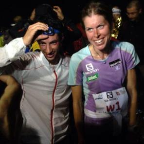 Kilian Jornet y Laura Orgué campeones del mundo 2014 foto salomon running