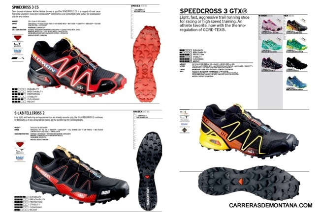 Zapatillas salomon invierno: Spikecross 3 CS; SLab Fellcross 2; Speedcross 3 Gore tex