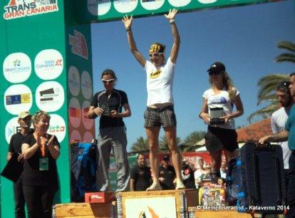 Nuria Picas, campeona UTWT14, con Fernanda Maciel, subcampeona Transgrancanaria 125k.