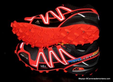 zapatillas salomon spikecross 3 CS cubierta y suela foto mayayo
