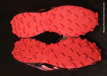 zapatillas salomon spikecross 3 CS suela