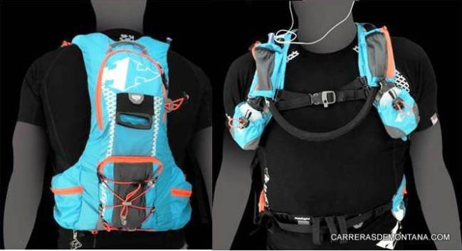 Mochila trail Raidlight XP6: Vista frontal y trasera.