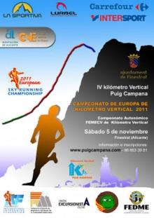 Kilómetro Vertical Puig Campana 2011. Copa del Mundo.