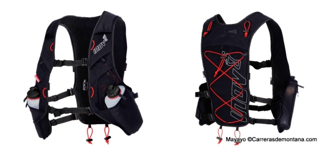 Mochila trail Inov8 Race Ultra vest Black-Red - copia