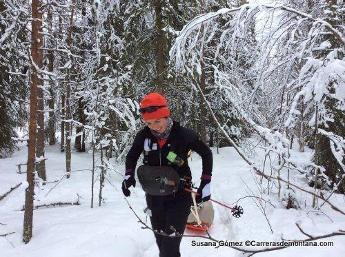 Susana Gómez en Rovaniemi 150k 2013.
