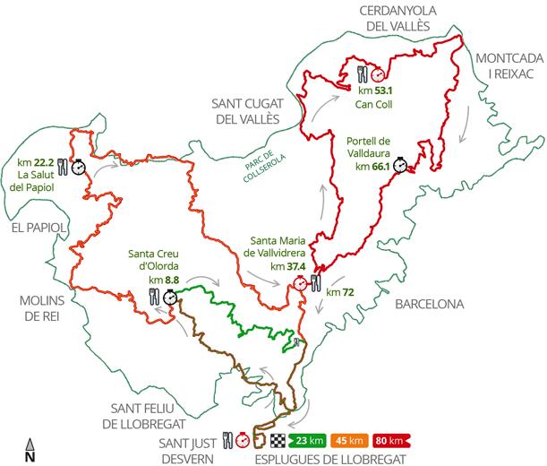 Ultra trail collserola 2014 mapa carreras