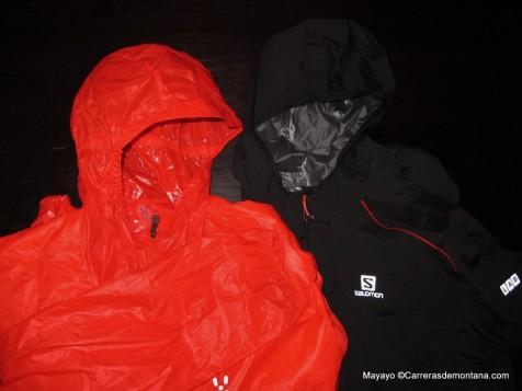 Cortavientos térmico Haglöfs y Salomon hybrid jacket.