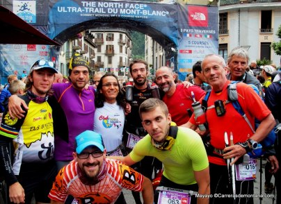 Petite Trotte a Leon 2014: Corredores españoles en la salida.