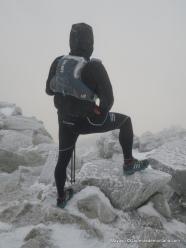 Salomon Hybrid Jacket en la cima de Maliciosa a -10ºC