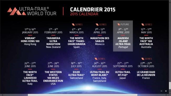 Ultra Trail world tour 2015 calendar