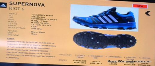 Adidas Supernova Riot6: Ficha técnica oficial