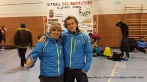 Isma y Julián en el previo de carrera.