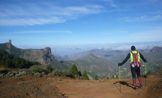 Transgrancanaria: Panorámica del Roque Nublo a la salida de Garañón. Foto: Mayayo.
