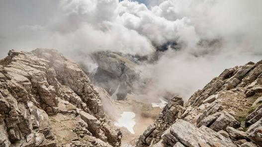 Paso de la Garganta de Aisa desde el Pico Aspe. Foto: Canfranc-Canfranc.