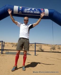 Raul García Castán, campeón 100km Sahara 2014 vuelve como favorito. Foto: Mayayo.