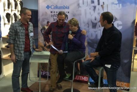 De izquierda a derecha: Franco Fogliato, Michel y Caherinne Poletti y Tpoher Gaylord en ISPO Munich.