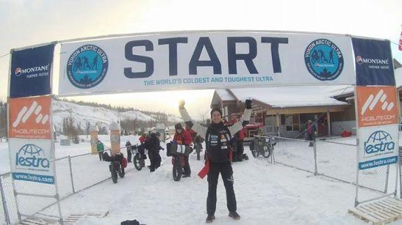 Joel Jaile en la salida Yukon Arctic Ultra 725k del 2015.
