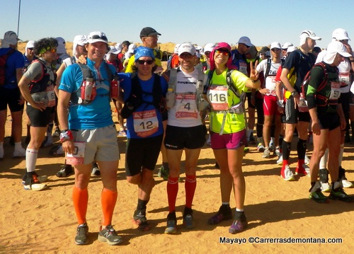 Los españoles 100km Sahara 2014: Una gran carrera para la élite y para el popular.