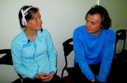 emelie forsberg interview at zegama mini